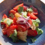 Деревенский салат из томатов Village tomato salad