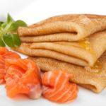 Блинчики с семгой Pancakes with salmon