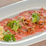 Карпаччо из  тунца Tuna carpaccio