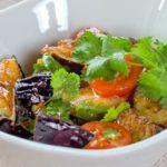 Салат из запеченных баклажан Salad of baked eggplant
