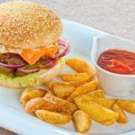Бургер с котлетой из  говядины Burger with beef patty