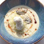 Крем-суп с устрицами. Cream with oysters.