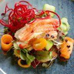 Салат с камчатским крабом. Salad with kamchatka crab.